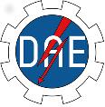 Logo da DAE em formato de engrenagem escrito DAE no meio