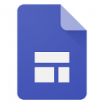 Logotipo Google Forms com alguns retângulos no centro