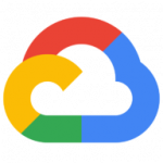 Logotipo do Google Cloud com desenho de uma núvem com borda colorida