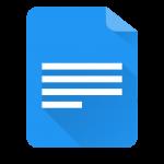 Logotipo Google Forms sendo uma folha com linhas horizontais no centro