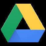 Logotipo do Drive sendo um triângulo de vértices amarelo, azul e verde