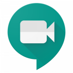 Logotipo Google Meet com uma câmera dentro de uma balão de conversa