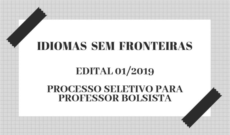 Resultado de imagem para Programa Idioma Sem Fronteiras abre seletivo para contratação de professores bolsistas