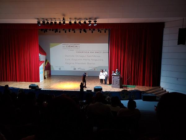 Durante a SNCT, foi realizada no Teatro Municipal a 2ª edição do Prêmio Itajubense de Ciência e Tecnologia.